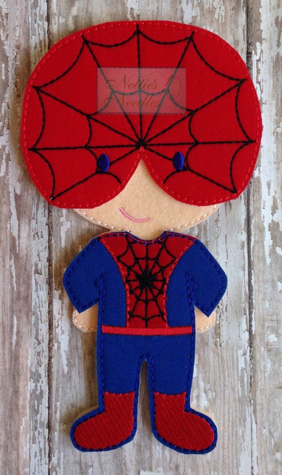 Spiderman: Felt Doll Spiderman Outfit for Boy by NettiesNeedlesToo