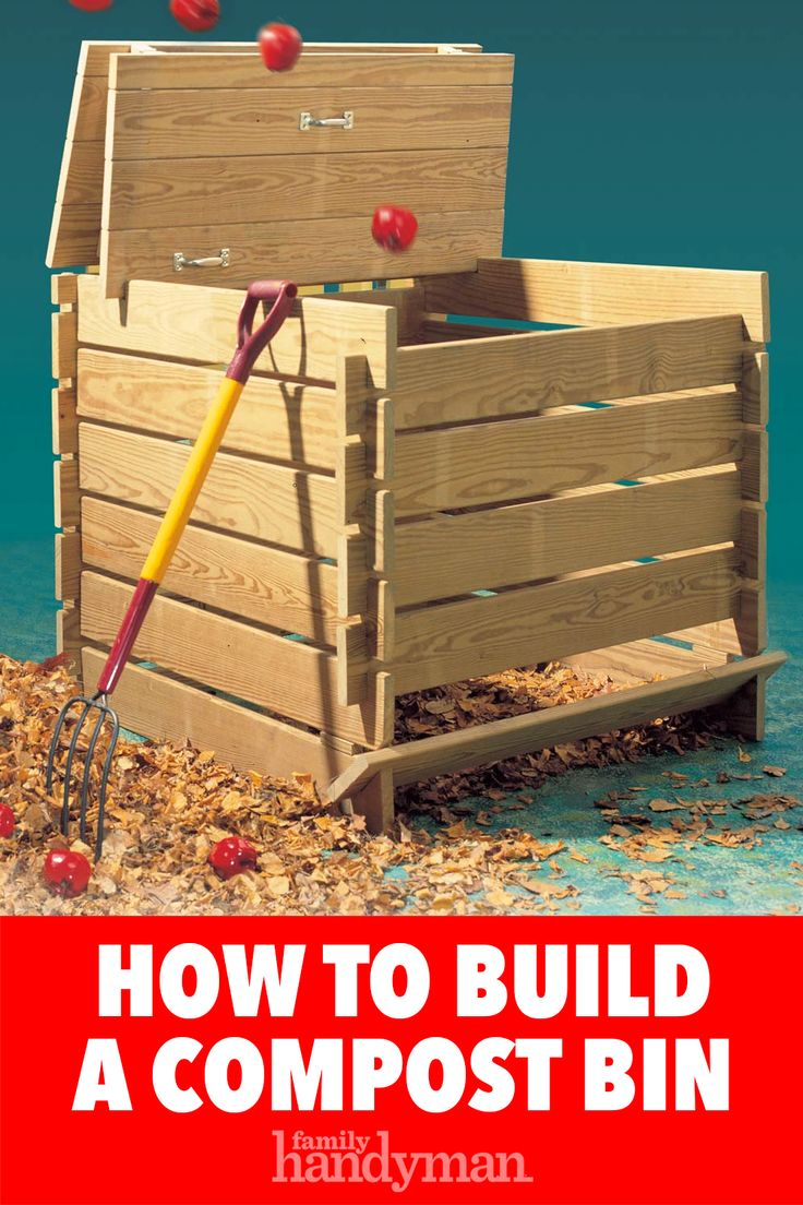 How to Build a Compost Bin Woodworking projects, Easy