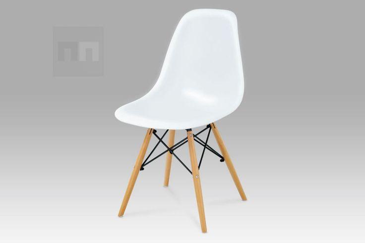 Jídelní židle v jednoduchém moderním designu bílá CT-718 WT1