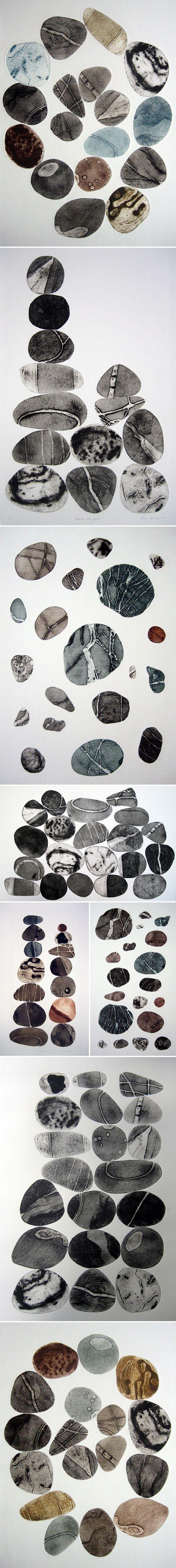 collagraph prints by tessa horrocks