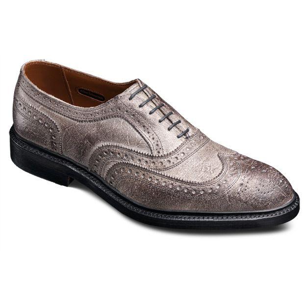 Allen Edmonds McTavish Wingtip Oxfords 4145 Smokey Grey Leather