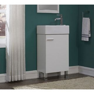 Photo Gallery For Website Shop for Urbana White inch Single Bathroom Vanity Set Get free delivery at