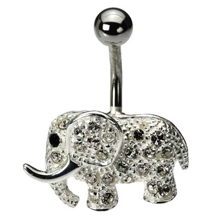 elephant belly button ring.