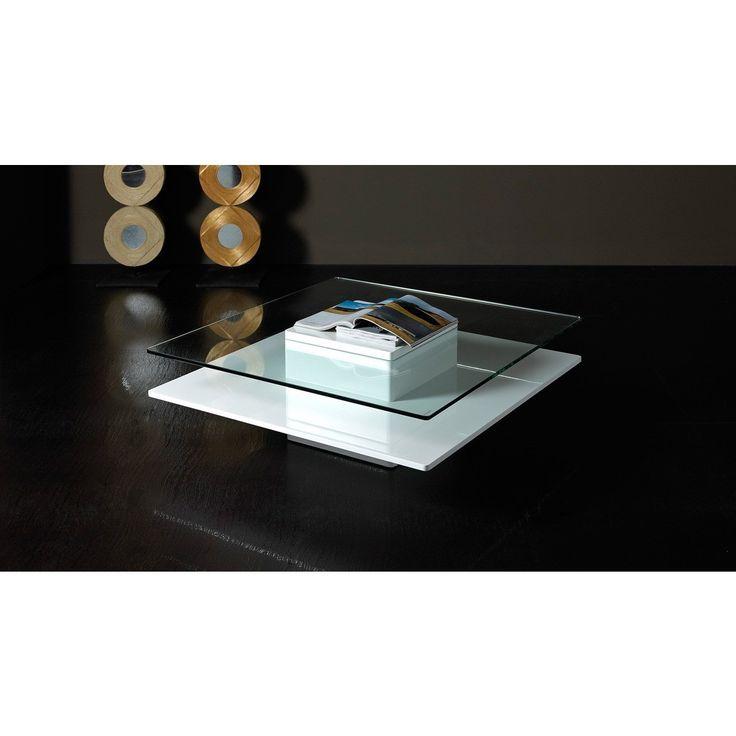 Modrest Emulsion   Modern White Glass Coffee Table