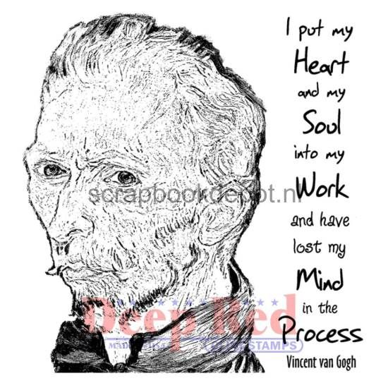 Lost My Mind Deep Red Cling Rubber Stamp Set