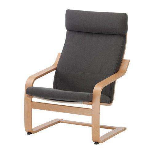 POÄNG Sillón IKEA Gracias a la estructura flexible de tablillas de haya encoladas y curvadas, resulta muy cómodo.