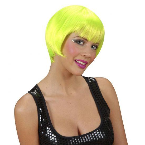 Korte neon groen feest damespruiken  Korte damespruik neon groen. Met deze fel groene bobline damespruik bent u een opvallende verschijning op uw feest. Naast deze groene korte damespruiken hebben wij nog meer korte damespruiken in ons assortiment.  EUR 17.50  Meer informatie