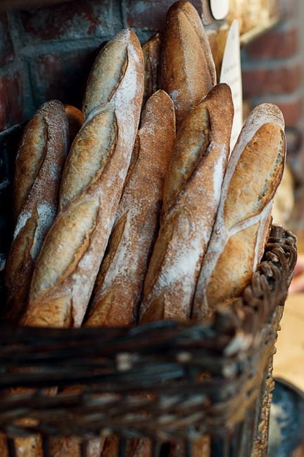 Beautiful French baguettes... I can almost taste it.