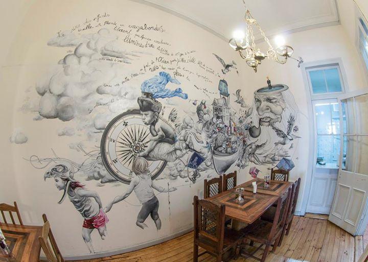 Café del Pintor - Valparaíso mural principal