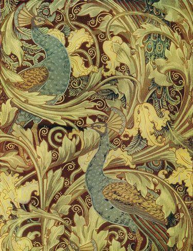 The Peacock Garden wallpaper design by Walter Crane, produced in 1889