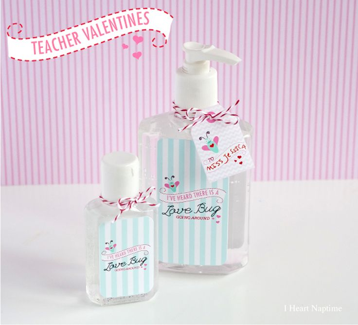 Cutest printable Valentines for your Teacher... print out the free label on iheartnaptime.com #ValentinesDay