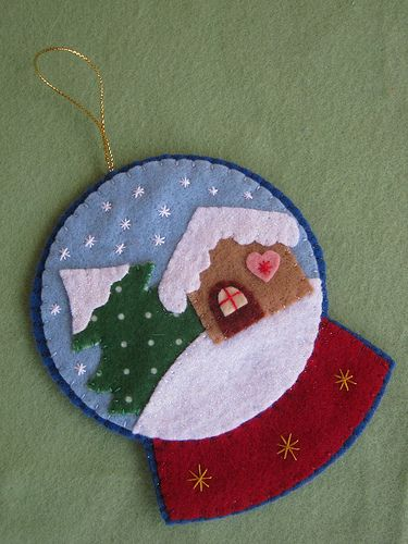 Globo de neve!!! | Enfeite para a árvore de Natal! Apostila … | Flickr