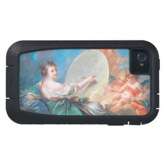 Allegory of painting Boucher Francois rococo lady iphone 4 tough xtreme  #allegory #painting #boucher #Paris #France #art #woman #girl #cherubs #angels #rococo #accessory #gifts #classic #customizable #home #decoration