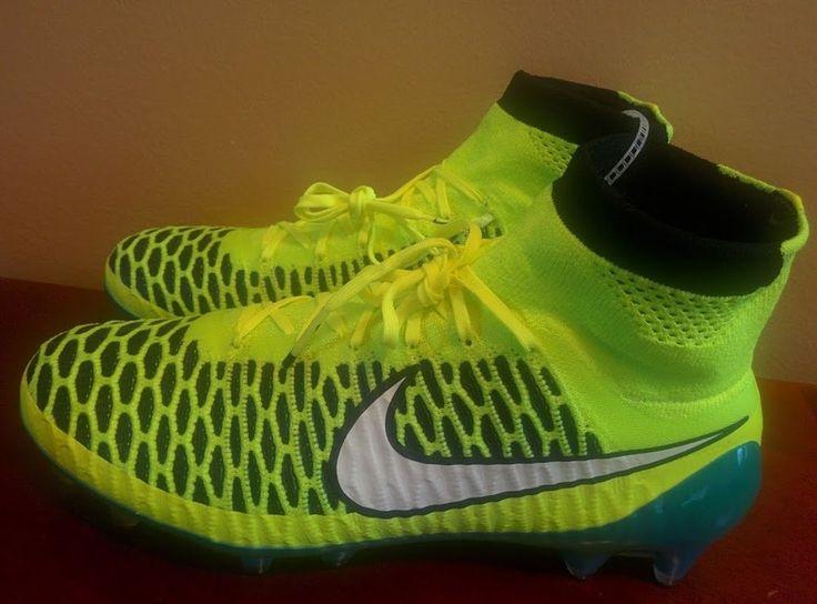 Womens Nike Magista Obra FG Soccer Cleats 7.5 Volt Blue Lagoon 718754 487 New #Nike
