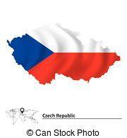 checo, mapa, bandera, república