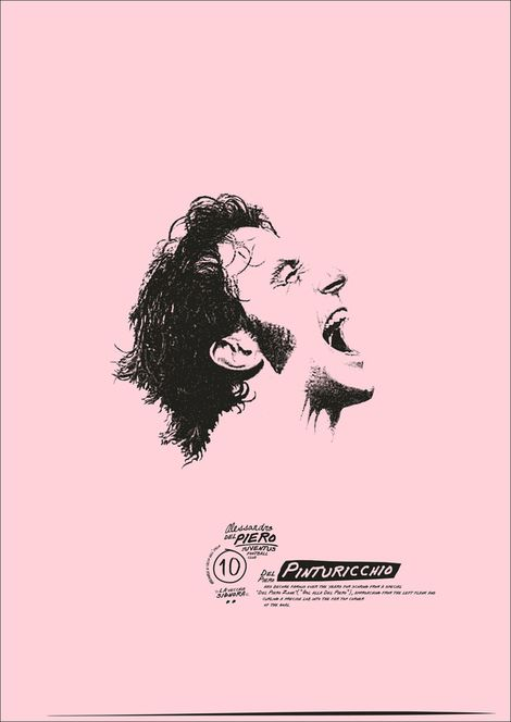 Poster: I love this series of posters. They are soccer poster and as a big soccer fan I see things in them that to me are both beautiful and smart. The pink color perhaps seems weird unless you know that the biggest newspaper in Italy uses pink pages. I also like the vectorized photo and the handwritten type work on it.