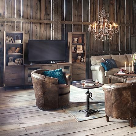 Benedict Leather Swivel Chair