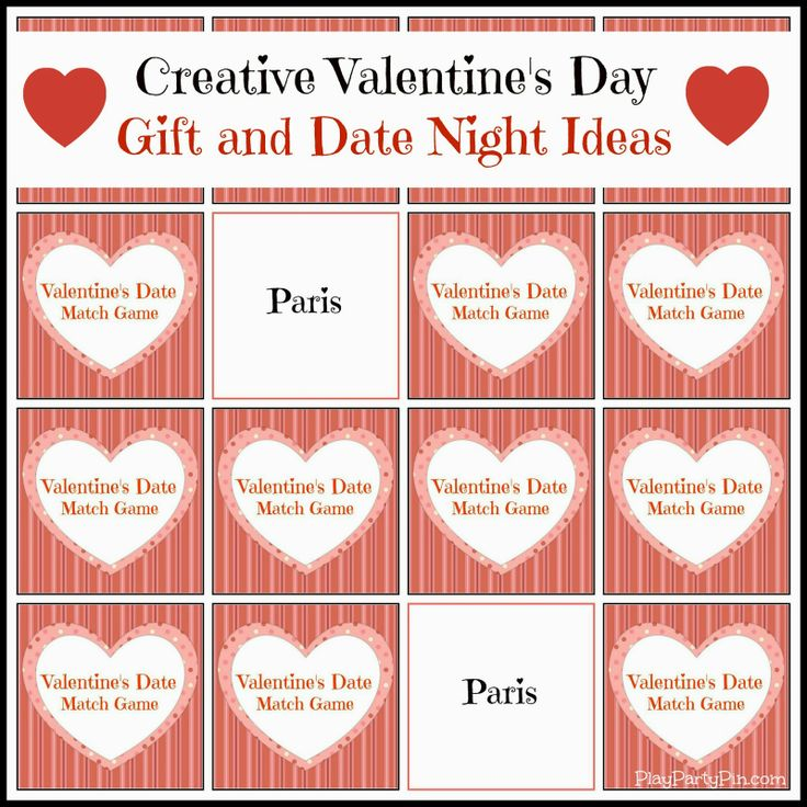 Valentine's Day Date Ideas and Match Game