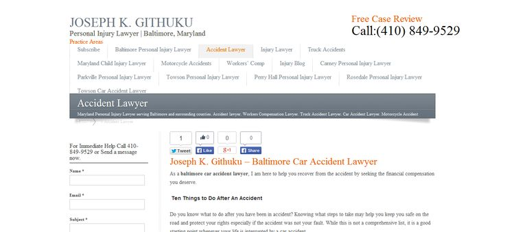 Representing personal injury victims in Baltimore and throughout Maryland -- maryland personal injury lawyer, baltimore personal injury lawyer --- http://www.410injury.com/car-accident-lawyer/