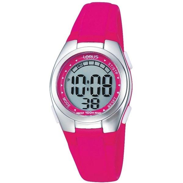 Womens/Kids pink digital watch (32 CAD) found on Polyvore