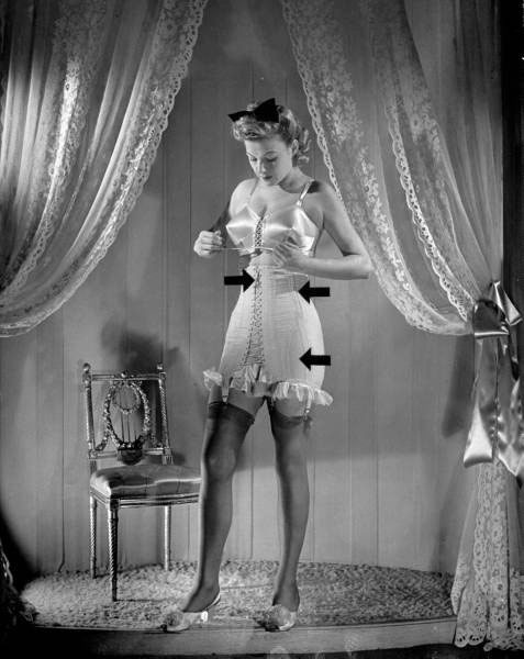 1940s lace up corset waist training: Nina Leen, Corsets Models, 1940 S, 1940S Lace, Products Boards, Waist Training, Wpb S War, Arrows Points, War Products