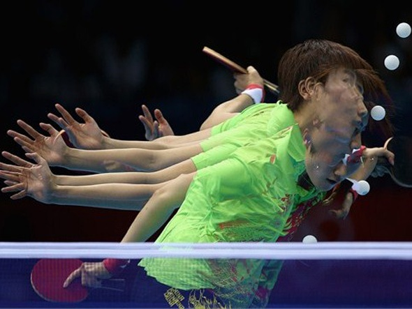 'Ping Pong' in the Matrix (atleta chinesa Ning Ding)