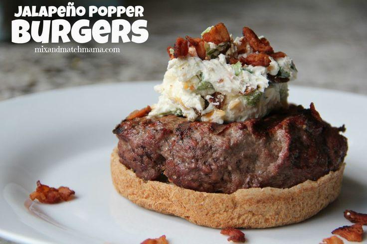 Jalapeño Popper Burgers | Mix and Match Mama