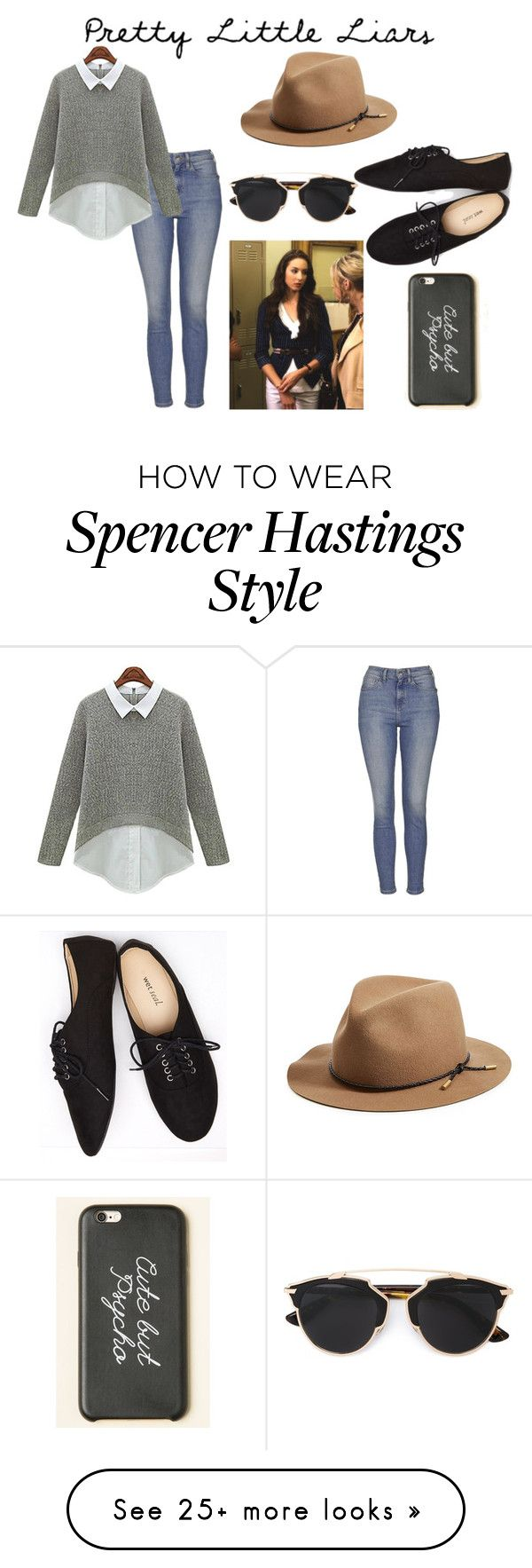 """""""Spencer Hastings"""" by elizarosexox on Polyvore featuring Topshop, rag & bone, Wet Seal and Christian Dior"""