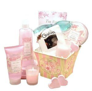 Birthday Gift:Victorian Romance Bath & Body Spa Basket for Women - Birthday, Thank You or Christmas Holiday Gift Idea for Her