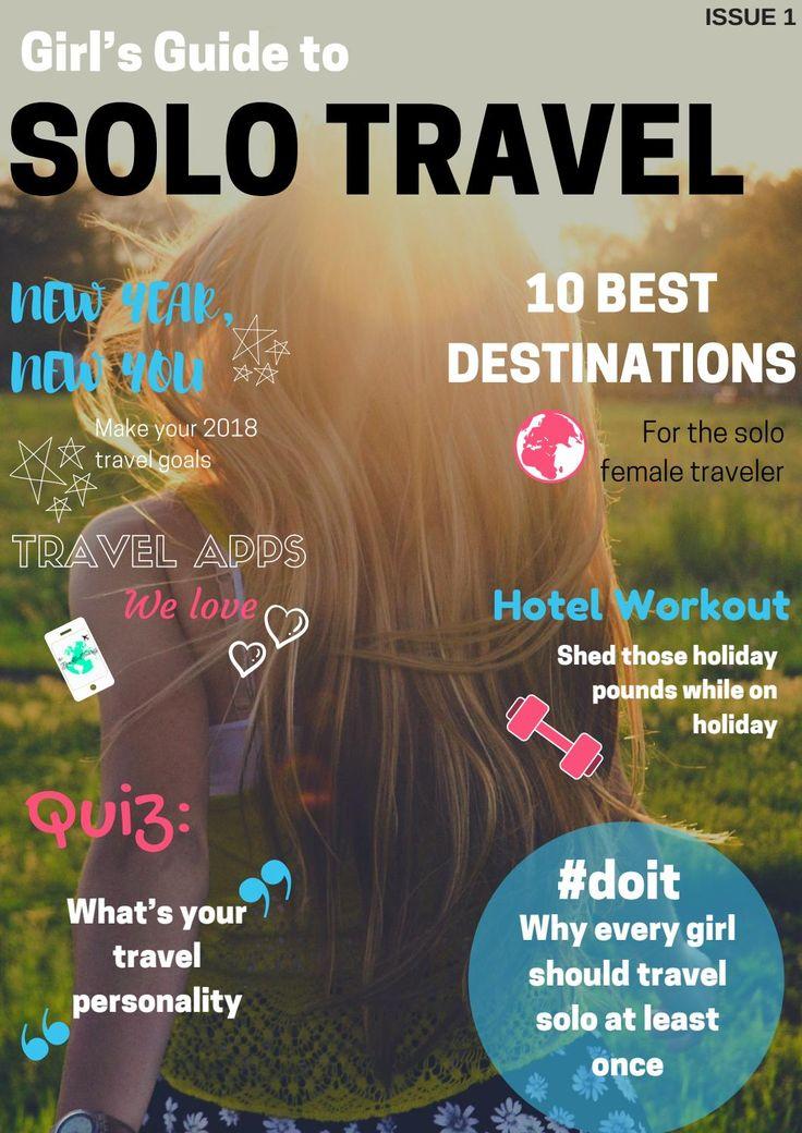 Solo female travel tips. Free online magazine.