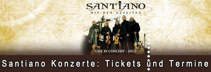 Tickets für Santiano Konzerte sind nicht nur bei den Fans sehr begehrt und die Karten für die Touren meistens schnellstens ausverkauft. Wenige haben vor knapp einem Jahr damit gerechnet, dass dieses neue und ungewöhnliche Musikprojekt mit Namen Santiano einen so tollen Ritt auf der Triumphswelle hinlegt und mittlerweile regelmäßig mit neuen Konzert...