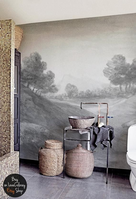 Vintage Countryside Painting Wall Mural Reusable Wall Paper Vintage Art Wallpaper Landscape Mural Wall Art 34 Mural Wall Art Wall Murals Mural Art