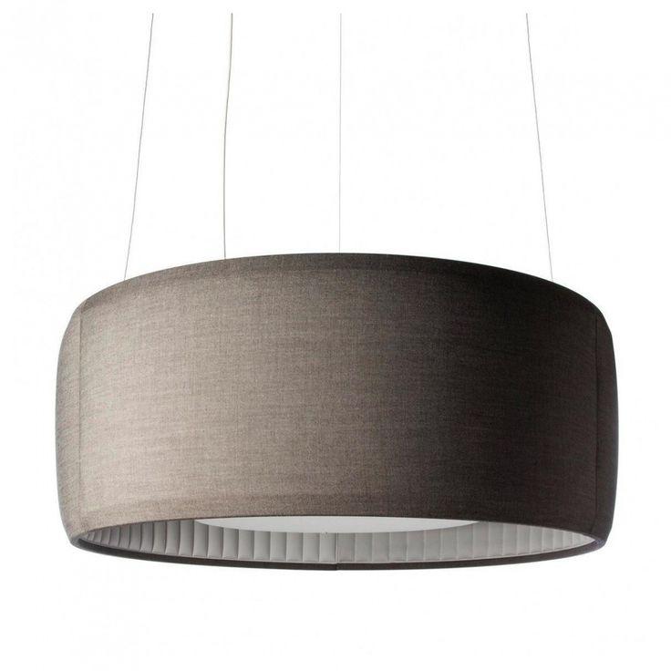 Luceplan Silenzio LED 120 Pendelleuchte - Dunkelgrau
