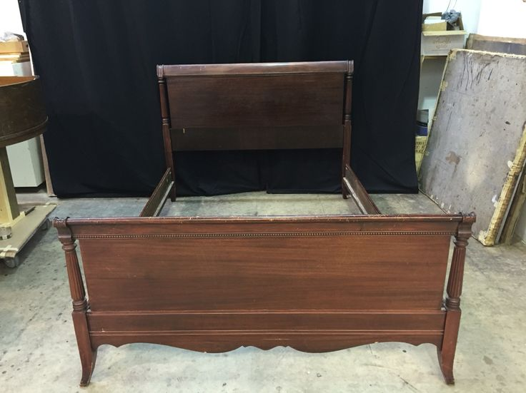 The Eisch's project: #mahogany #bed #headboard #footboard #rails #needs #refinishing
