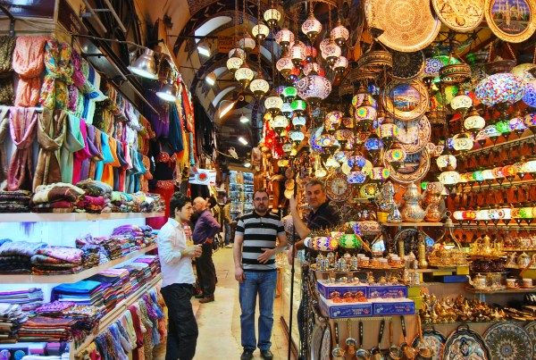 Shops in the grand bazaar - Istanbul. Going to be here in a few months :D