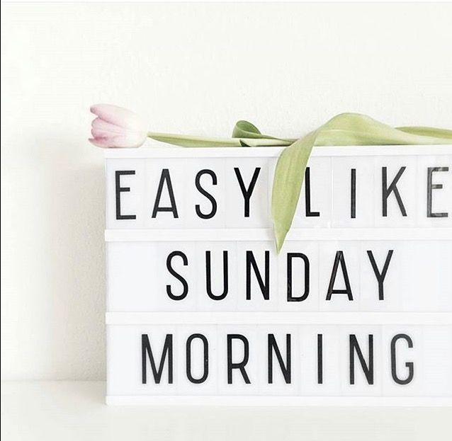 Easy Like Sunday Morning. Hier hoort een liedje bij...!