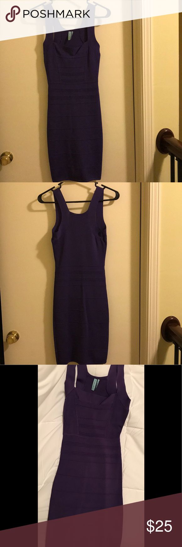 Guess by Marciano Bandage Dress purple Cute purple Bandage dress from Guess by Marciano. XS. Worn once- excellent condition. Guess by Marciano Dresses Midi