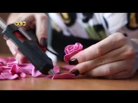 Роза из фоамирана. Мастер-класс. Мамам на заметку - YouTube ОТЛИЧНЫЙ МК!