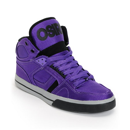 Osiris NYC 83 Vulc Ballistic Purple & Black Skate Shoe