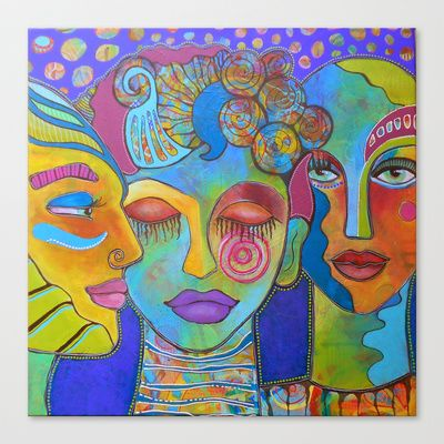 All the colors I am inside Stretched Canvas by denthe - $85.00