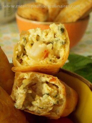 Bourek au fromage & crevettes a la feuille de brick turque