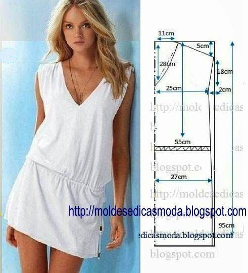 VESTIDO DE MODELAGEM FÁCIL-2 ~ Moda e Dicas de Costura