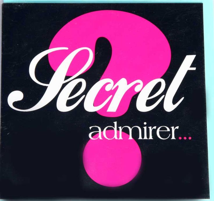 secret admirer essay This is an update of the secret admirer, the most well-received role in [my last role idea.
