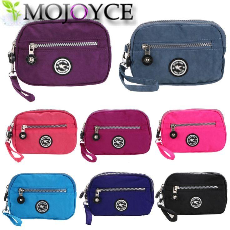 Отдыха canva двойная молния сцепления Сотовый телефон сумка ключевые сумка Симпатичные девушка портмоне маленькие Дамы кошелек женщин сумка девушки мешок монет #shoes, #jewelry, #women, #men, #hats