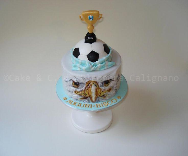 Lazio football soccer cake - Torta Lazio