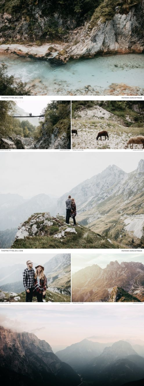 The ultimate couple shoot in the beautiful landscape of Slovenia - plus the best spots to visit and more! https://www.theprettyblog.com/travel/head-into-the-mountains-of-slovenia/?utm_campaign=coschedule&utm_source=pinterest&utm_medium=The%20Pretty%20Blog&utm_content=Head%20into%20the%20Mountains%20of%20Slovenia%21