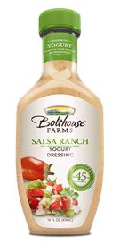 Bolthouse Farms - Yogurt  Salsa Ranch - we love this dressing!!!