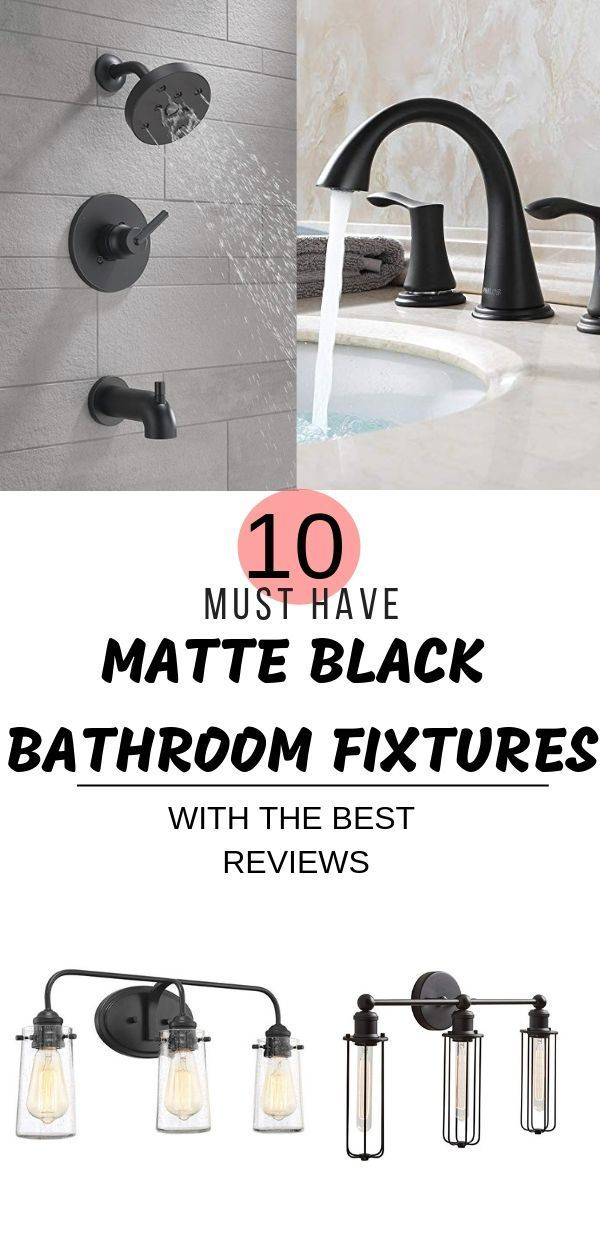 Must Have Matte Black Bathroom Fixtures We Hope Yo…