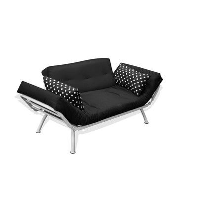 Modern Loft Mali Flex Combo Futon and Mattress Upholstery: Black / White - http://delanico.com/futons/modern-loft-mali-flex-combo-futon-and-mattress-upholstery-black-white-588881920/