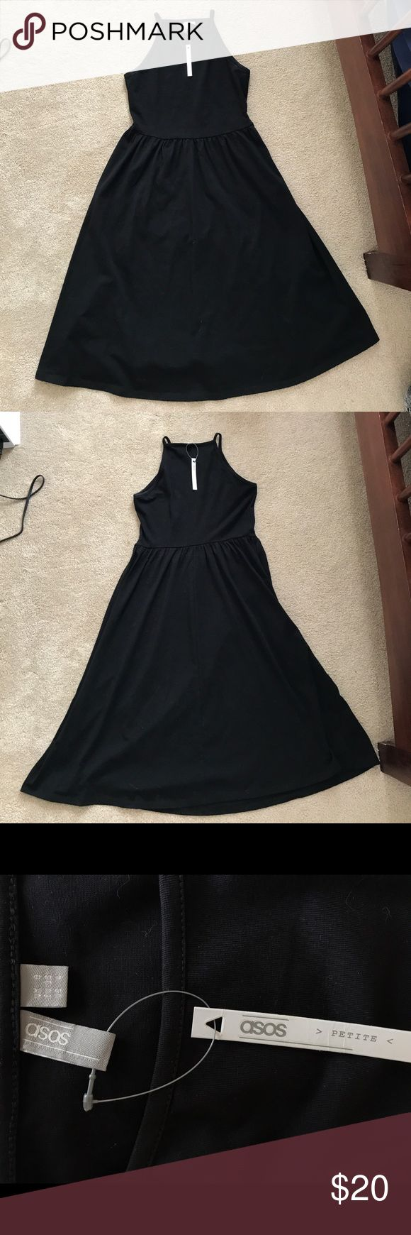 NWT Black Asos Petite Midi Dress 96% cotton, 4% elasthane. ASOS Petite Dresses Midi